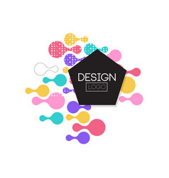 design logo template label for brand company vector image vector image