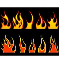 flame set vector image