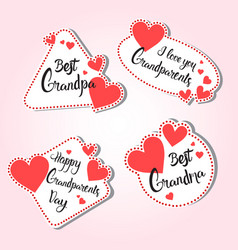happy grandparents day greeting card set of vector image