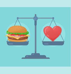 Health balance on the scale vector