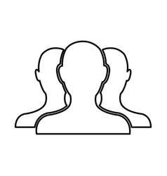 people community network team web line vector image