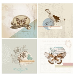 Scrapbook Design Elements - Vintage Paper Set vector image vector image