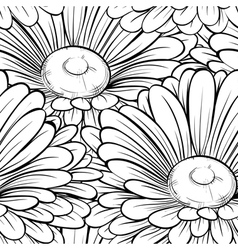 Seamless background with monochrome black and whit vector