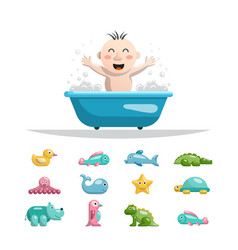 baby bath toys vector image vector image