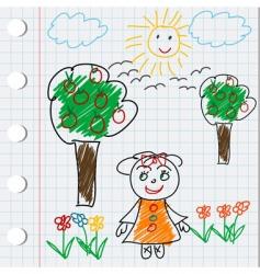 cartoon doodle vector image vector image