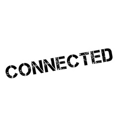 Connected black rubber stamp on white vector