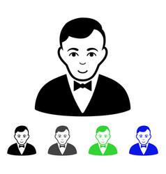 Dealer flat icon vector