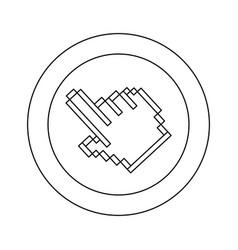 figure symbol pixel hand cursor icon vector image vector image