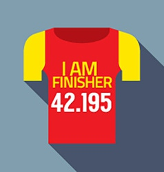 Finisher tee of marathon runner vector
