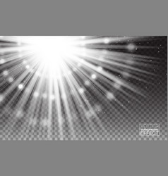 magic effect white rays light flare vector image vector image