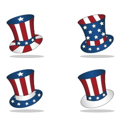 4 july united states hats vector