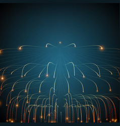 Abstract glowing lines mesh vector
