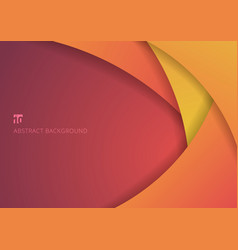 Abstract yellow and pink curve circle paper layer vector