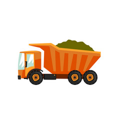 agricultural delivery truck transportation of vector image