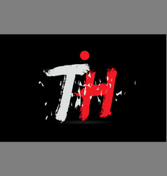 Alphabet letter combination th t h with grunge vector