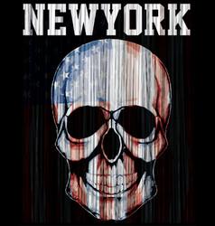 American flag skull vector
