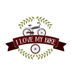 bicycle frame isolated icon design vector image