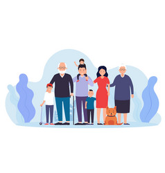 big happy family together father with mother two vector image