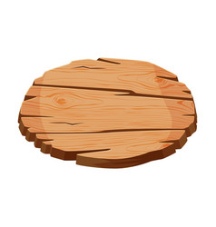 blank wooden signboard oval shape wood panel vector image