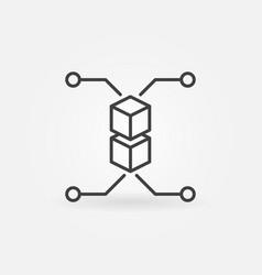 blockchain linear concept icon vector image