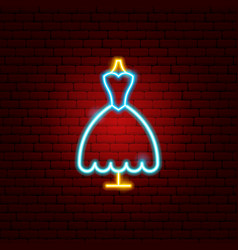bride dress neon sign vector image