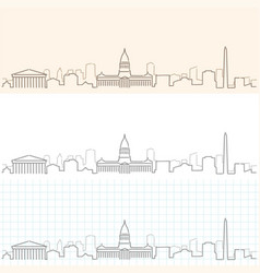 buenos aires hand drawn skyline vector image