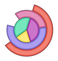 Business pie chart icon cartoon style vector