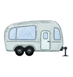 Camping and tourism equipment vector