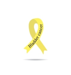 Cancer Ribbon Bladder cancer International Day vector image
