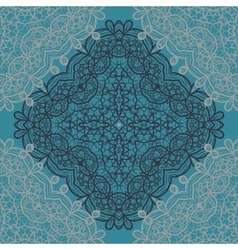 Carpet mandala print vector