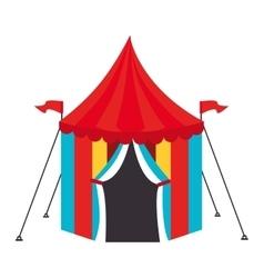 Circus carnival tent icon vector