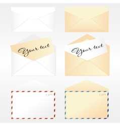 Collection of envelopes vector