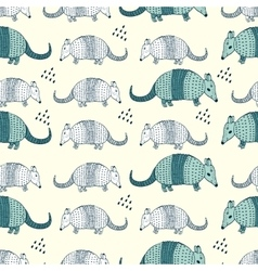 Colorful seamless pattern with armadillos vector