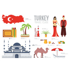 country turkey travel vacation guide of goods vector image