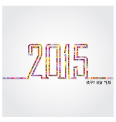 creative happy new year 2015 text design vector image