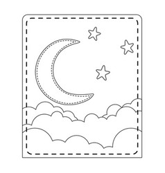 Cute moon design vector