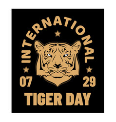 day tiger 0018 vector image