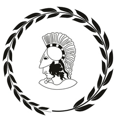 Decorative logo with the ancient Greek warrior vector