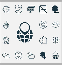 Eco-friendly icons set with cigarette insert vector