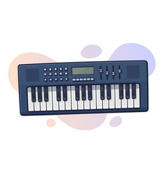 electronic keyboard musical instrument vector image