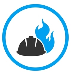 Fire Protection Helmet Icon vector