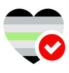 Flag in heart shape for your design vector
