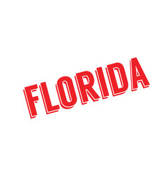 Florida rubber stamp vector