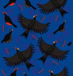 Forest bird flock vector