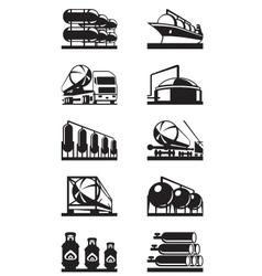 Gas tank terminals vector image
