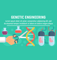 Genetic operation concept banner flat style vector