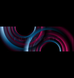 glowing blue and purple smooth circles abstract vector image
