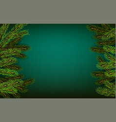 green natural background with pine vector image