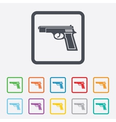 Gun sign icon Firearms weapon symbol vector