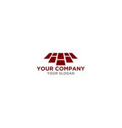 H floor logo design vector
